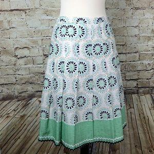 Ann Taylor Loft Petite Embroidered Dot Print Skirt